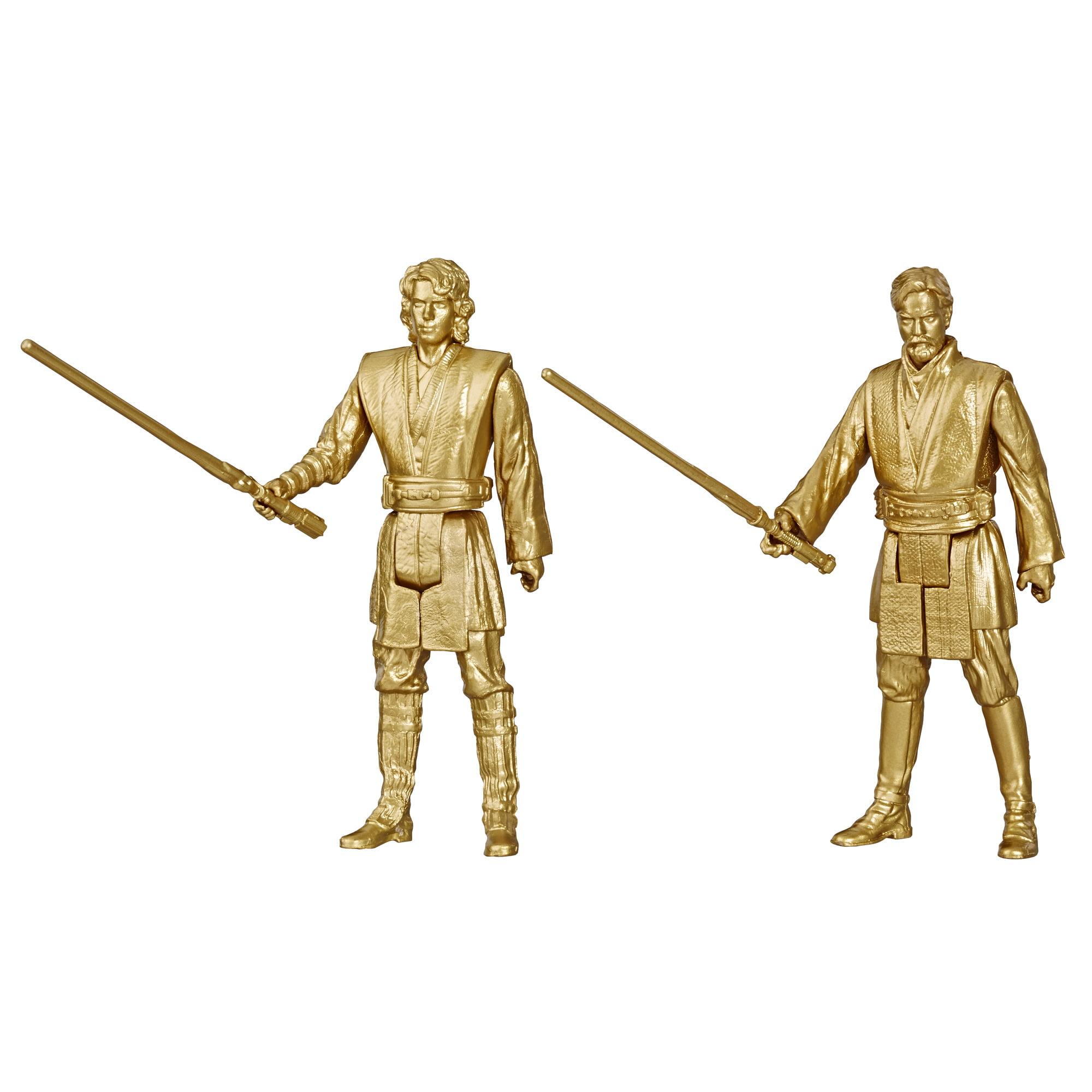 Star Wars 3 75 Inch Scale Obi Wan Kenobi And Anakin Skywalker 2 Pack Walmart Com Walmart Com