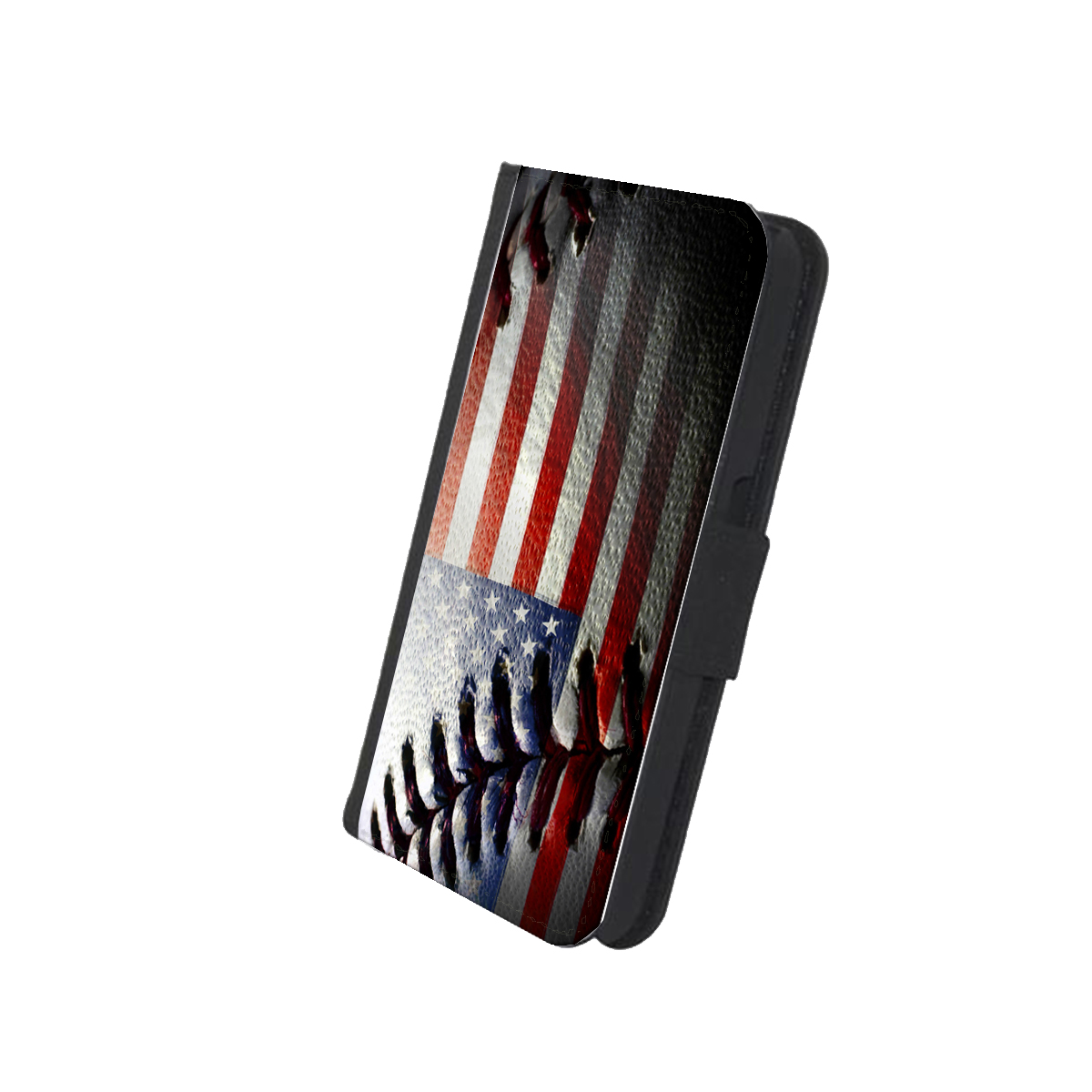 KuzmarK iPhone 7 Wallet Case - American Flag Baseball Stitch