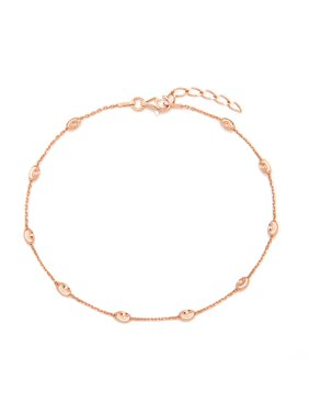 Product Image Diamond Cut Beaded Rose Gold Anklet