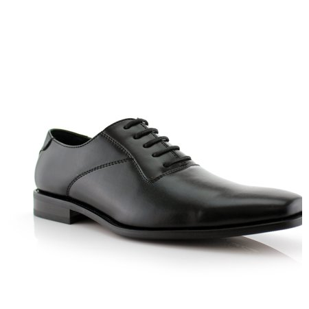 Ferro Aldo Jeremiah MFA19277APL Black Color Men's Oxfords With Lace-up Closure Leather Lining and Classic Square Toe Design Dress Shoes For Everyday Wear (Ferro Aldo Mens Oxford)