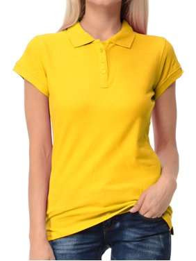 Basico Women Junior's Short Sleeve Slim Fit  Polo Shirt  100% Cotton