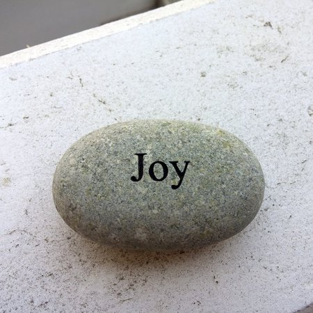 "Joy Engraved Stone Pebble River Rock Stone, Diemesion(Approx.) : 1.5-2"" Joy Stone By Garden Age Supply"