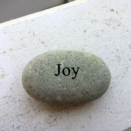 Engraved River Rocks - Joy Engraved Stone Pebble River Rock Stone, Diemesion(Approx.) : 1.5-2