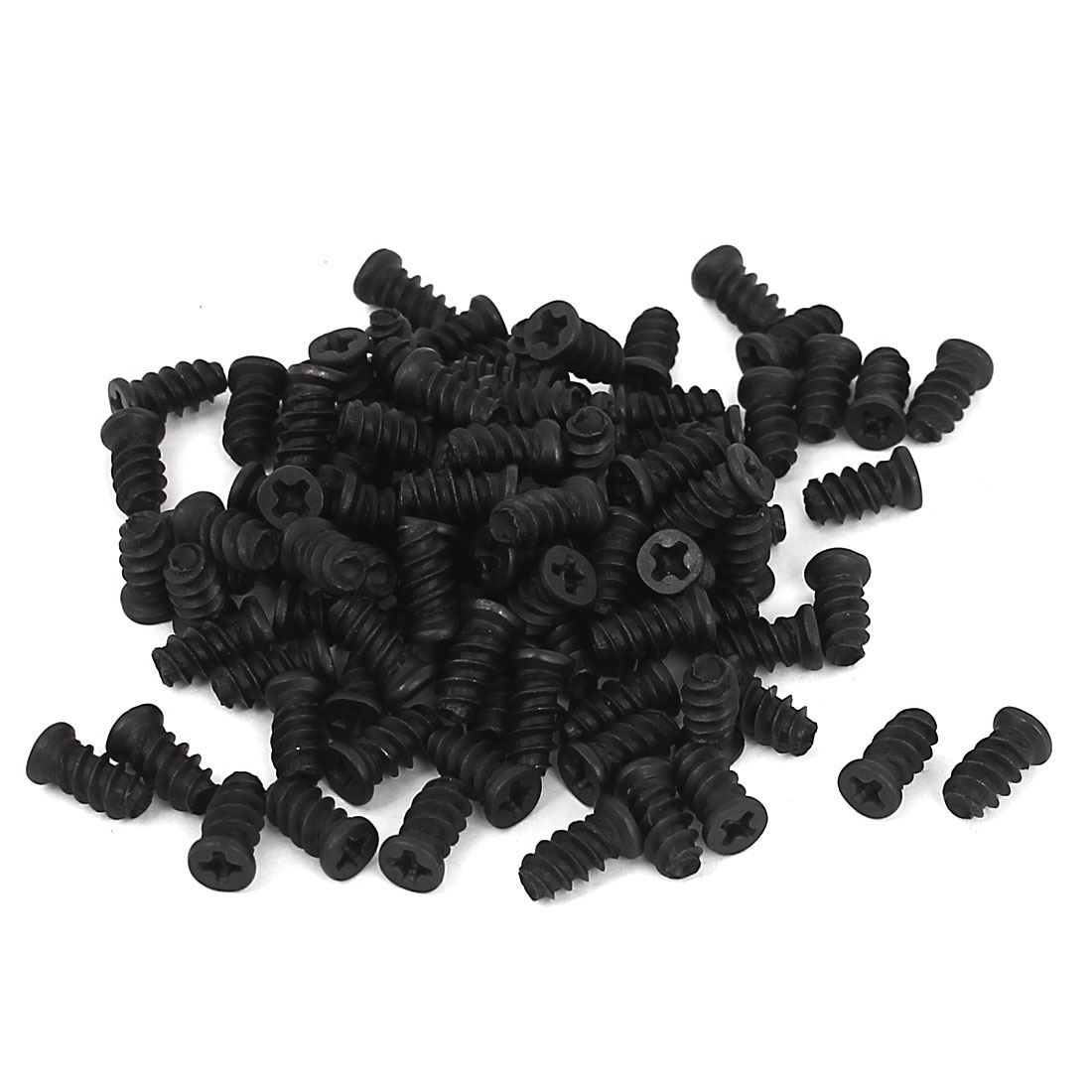 Computer PC Case Cooling Fan Mount Screws Black 10mm x 5mm 100pcs for Fans