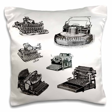 3dRose Several Old Typewriters Artwork, Pillow Case, 16 by 16-inch