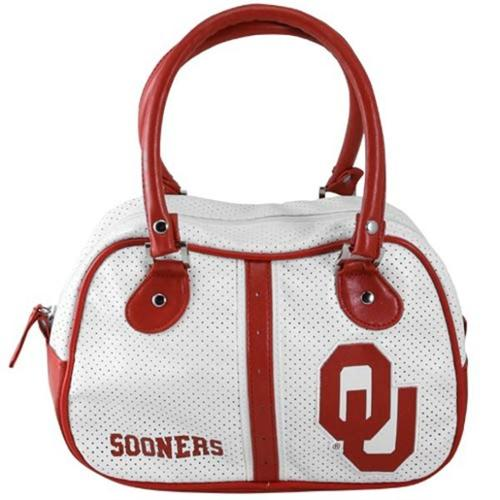 Oklahoma Sooners Official NCAA 11 inch  x 7 inch  x 4 inch  Ethel Hand Bag Purse by Concept One
