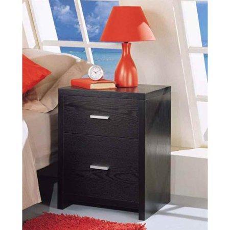 Dusk Two Drawer Nightstand in Black
