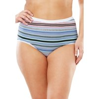 Comfort Choice Plus Size 5-pack Stretch Cotton Full-cut Brief