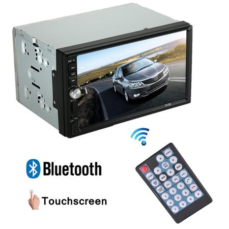 Double Din Car Stereo Remote Control With 7 Inch Touchscreen Bluetooth Backup Camera Mp3 Usb Sd Am Fm Car Stereo Dvd Player