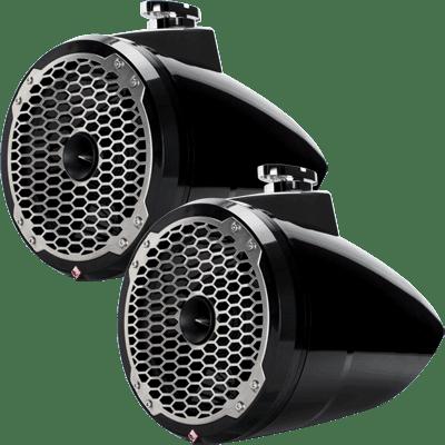 """Rockford Fosgate PM282HW-B Punch M2 8"""" Horn Spkr Tower Black Pair"""