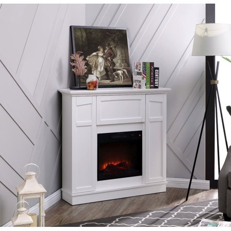 Bold Flame 40 inch Wall/Corner Electric Fireplace in White Dimplex Corner Electric Fireplace
