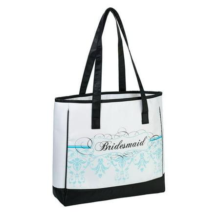 Bridesmaid Tote, Aqua - Bridesmaid Tote Bag