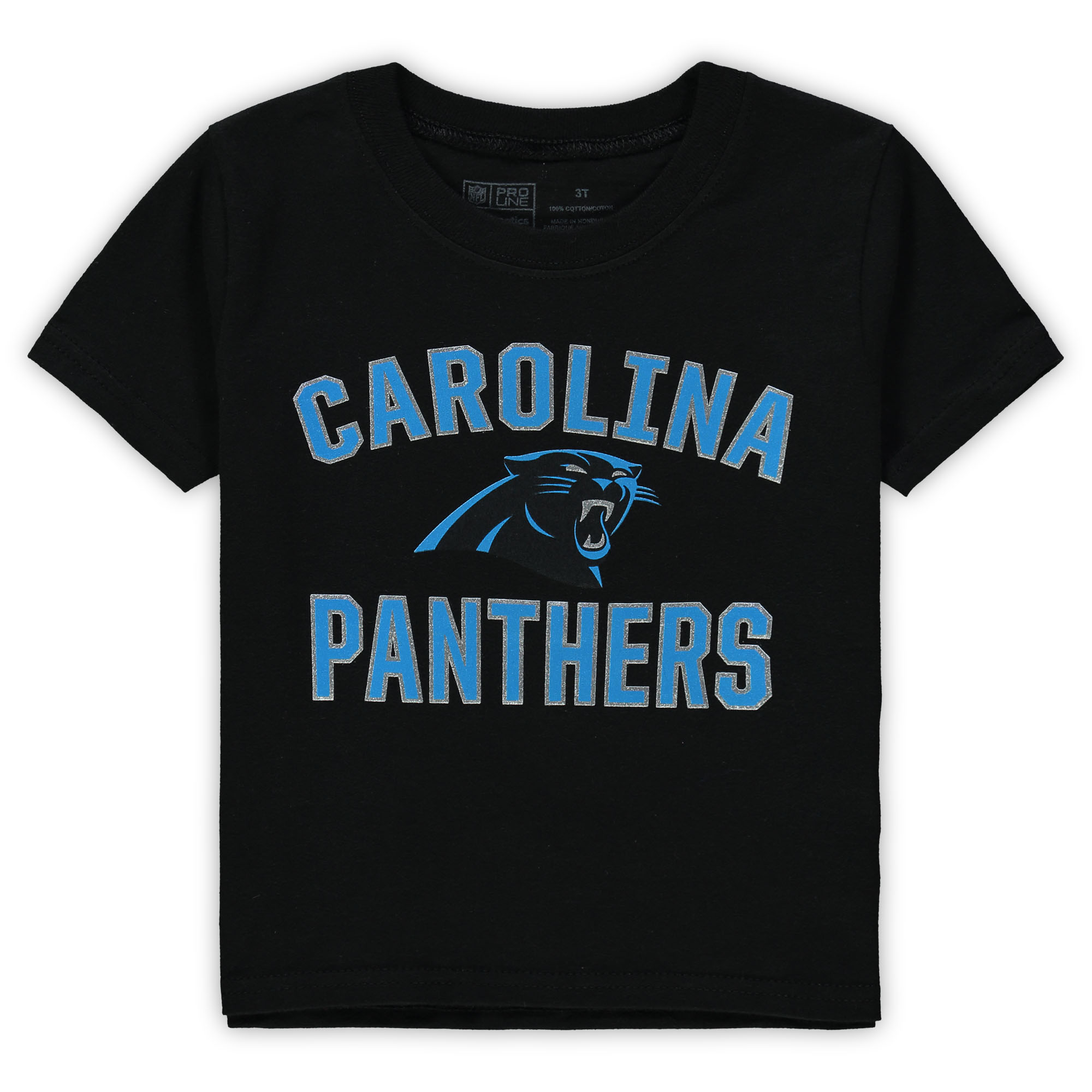 Carolina Panthers NFL Pro Line by Fanatics Branded Toddler Team Victory Arch T-Shirt - Black