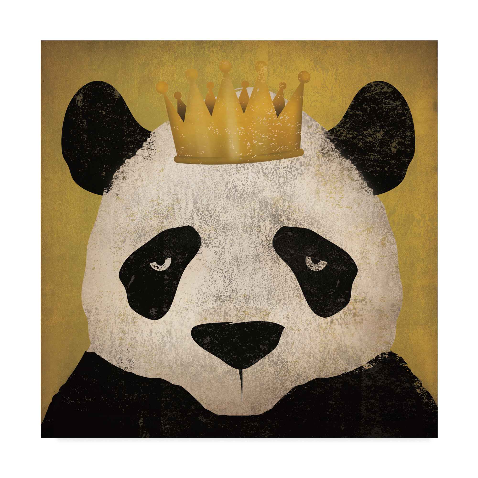 Trademark Fine Art 'Panda with Crown' Canvas Art by Ryan Fowler