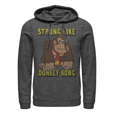 Nintendo Men's Strong Like Donkey Kong Hoodie (Krang Hoodie)