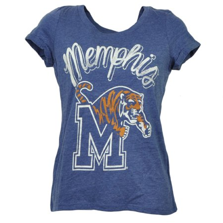 NCAA Memphis Tigers Tshirt Tee Crew Neck Womens Short Sleeve Distressed XSmall - Halloween Store Memphis