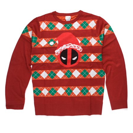 Marvel Deadpool Santa Hat Deadpool Pullover Sweatshirt | L](Deadpool Hat)