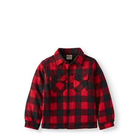 Bocini Fleece Plaid Shirt Jacket (Little Boys & Big Boys)