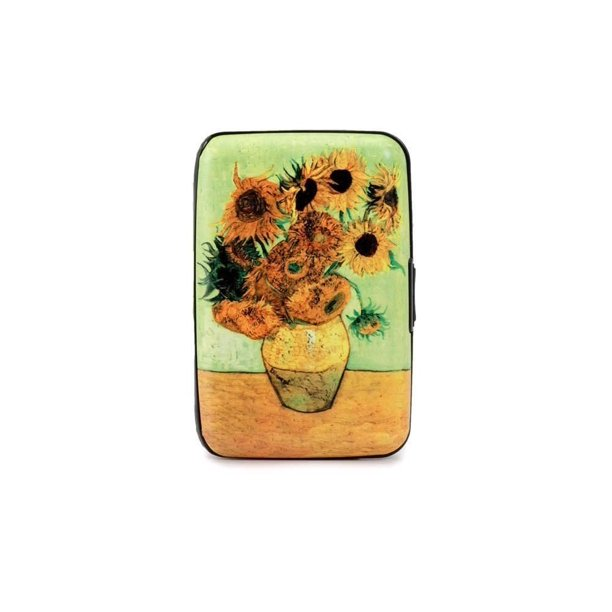Van Gogh Sunflower RFID Secure Data Theft Protection Credit Card Armored Wallet, The credit card case is designed in tough...