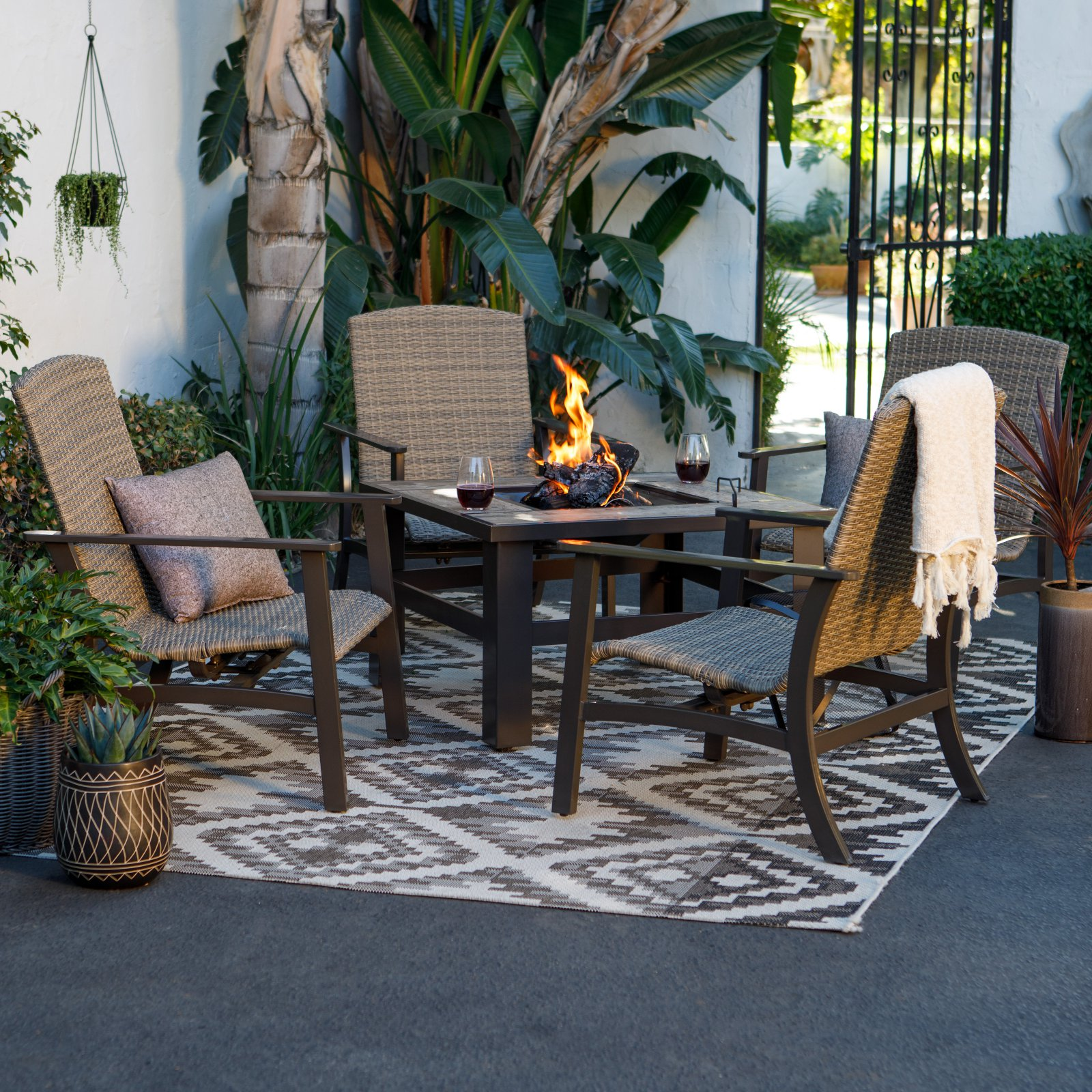 Coral Coast Tuscan Ridge Fire Pit Patio Set