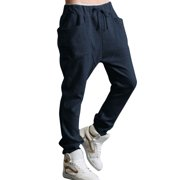 Men's Funnel Pockets Drop Crotch Drawstring Sweatpants