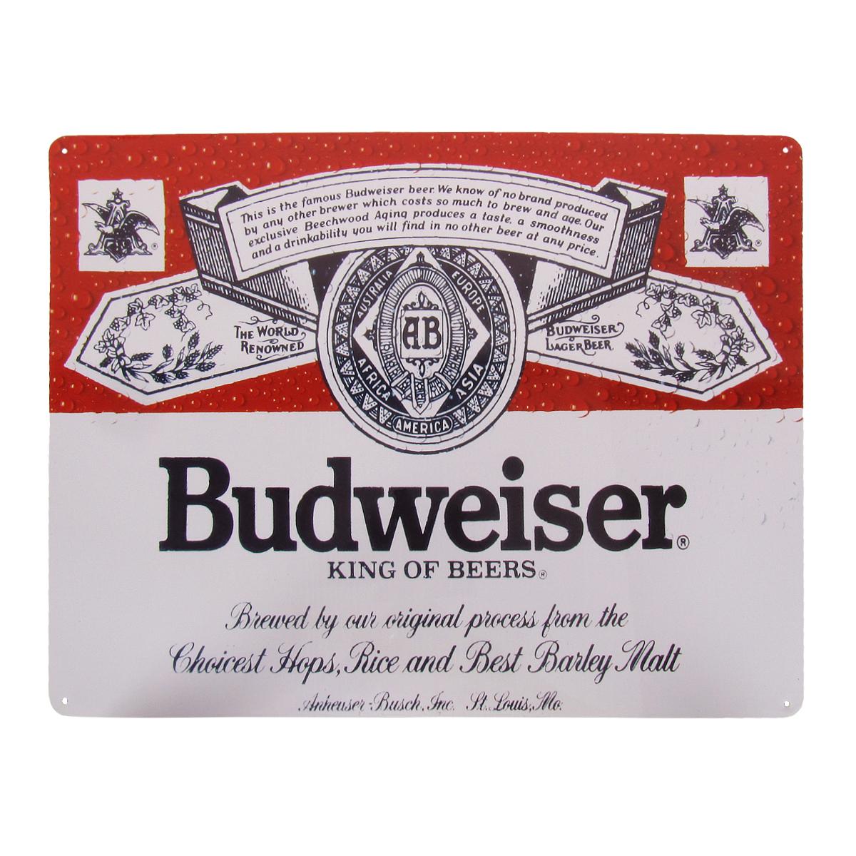 Budweiser beer mancave bar flag man cave bar ware man cave gift ideas signage
