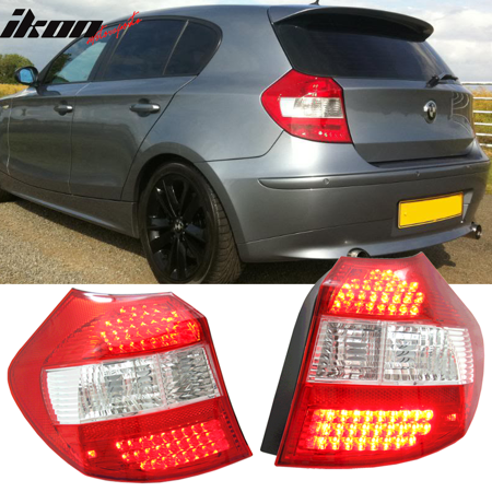 Fits 08-11 BMW E87 1 Series 120i 125i 128i 130i 135i LED Red Clear Tail  Lights