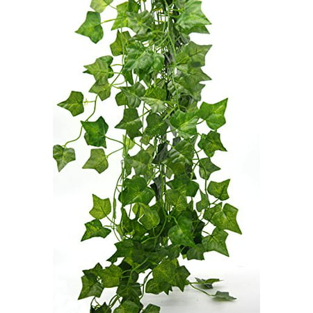Bird Fiy 78 Ft English Ivy Silk Greenery Artificial Plants Wedding Party Halloween Decorations DIY Floor Garden Office - 12PCS - Halloween Plants