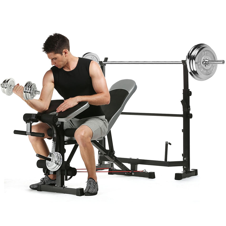 Olympic Weight Bench Press Gym Workout Squat Rack Weight ...