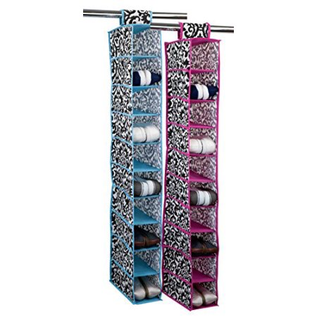Home Basics Quilted Hanging 10 Shelf Closet Organizer by HDS TRADING CORP