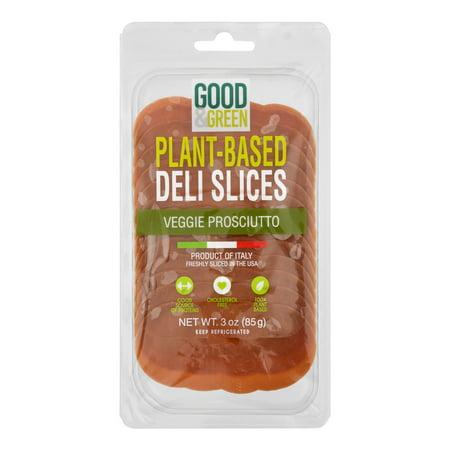 Good & Green Plant-Based Deli Slices Veggie Prosciutto, 3.0 OZ