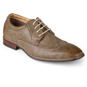 Daxx Mens Lace-up Wing Tip Square Toe Di
