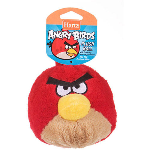 Hartz Angry Birds Plush Heads Dog Toy with Sound Chip, 1ct (Character May Vary)