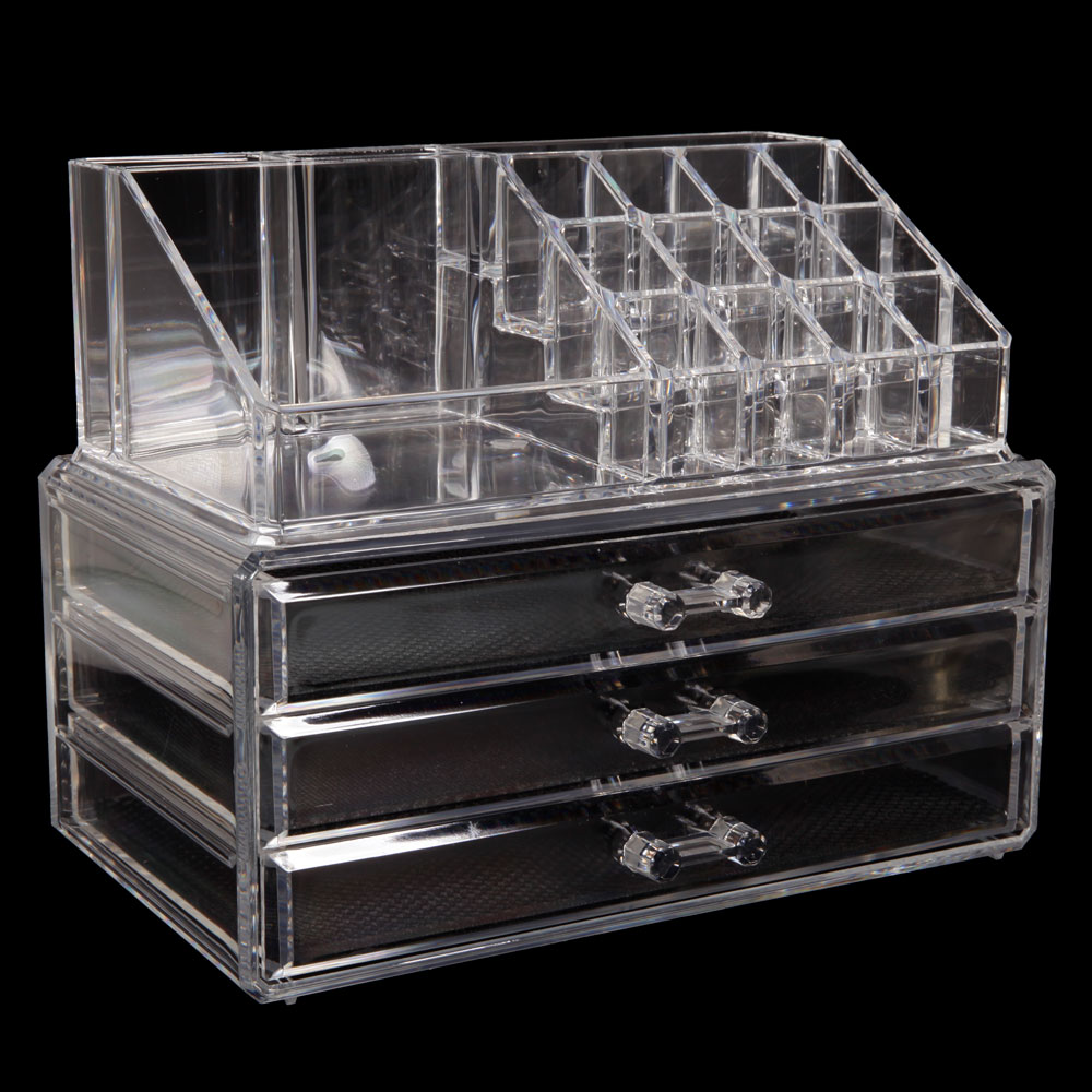 Zimtown Beauty Makeup Cosmetics Clear Jewelry Organizer Acrylic