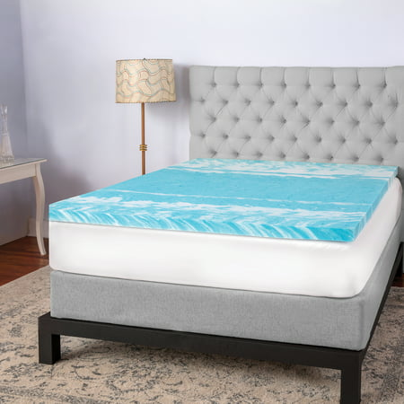 Sensorpedic 2 Quot Gel Swirl Memory Foam Twin Mattress Topper