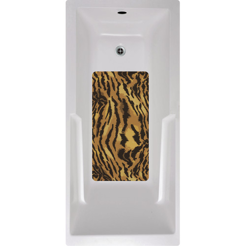 No Slip Mat by Versatraction Tiger Bath Tub and Shower Mat
