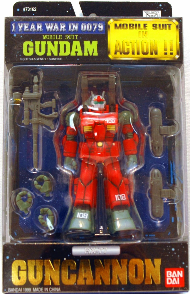 Gundam One Year Warin 0079 Mobile Suit in Action RX-77 Guncannon Action Figure by