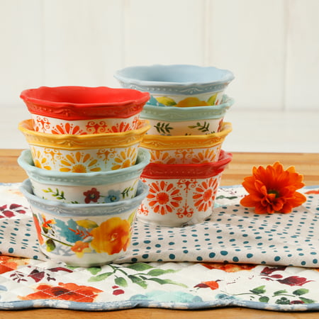 The Pioneer Woman Flea Market 4-Inch Ramekins, Set of (Corningware Stoneware Ramekins)