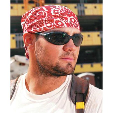 ERGODYNE 6710 Cooling Hat, Red, Universal