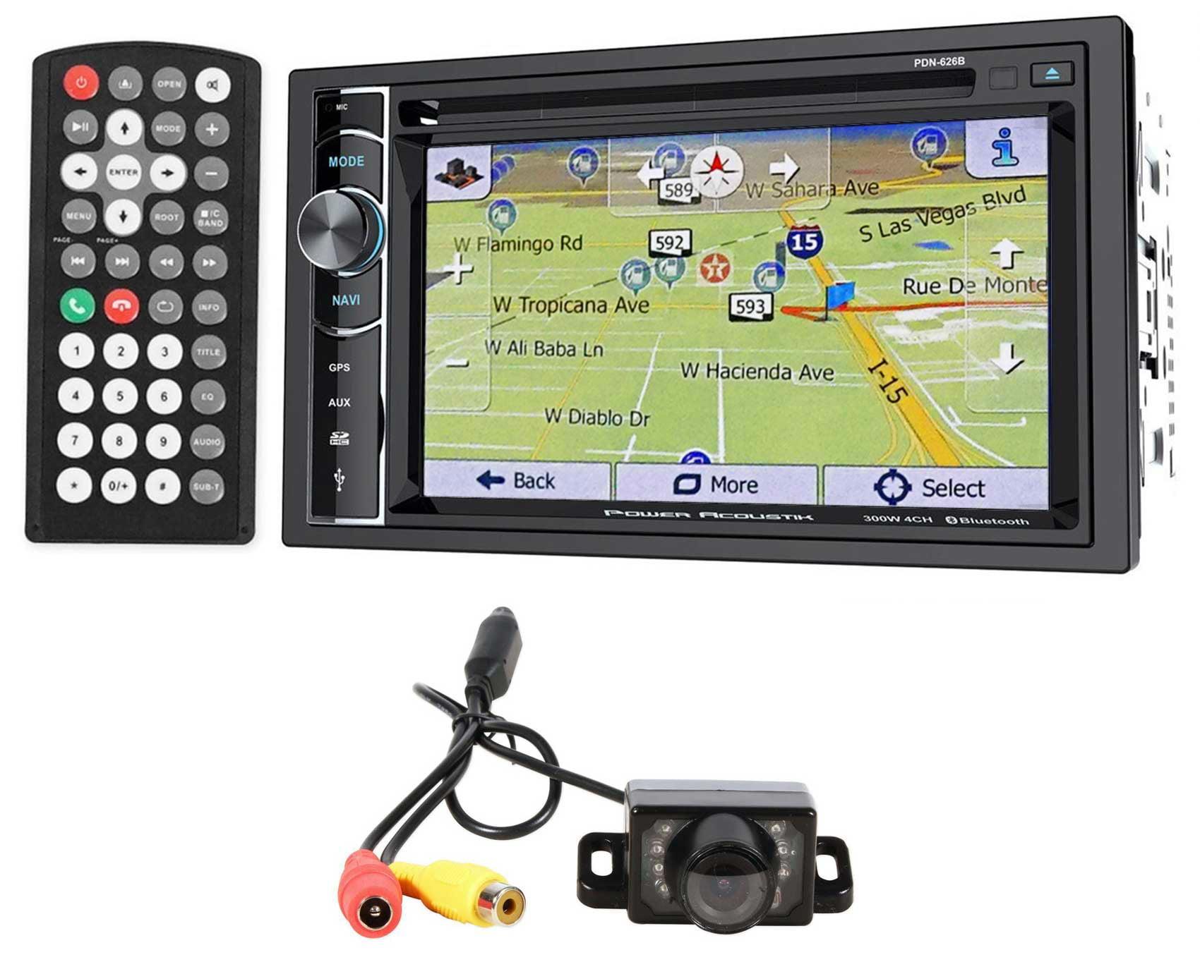 Power Acoustik PDN-626B DVD CD Car Stereo GPS Receiver+Bluetooth+Backup Camera by Power Acoustik
