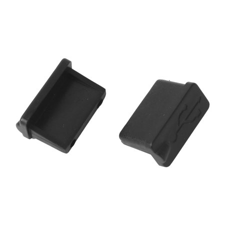 Notebook Computer Rubber USB Port Anti Dust Cover Cap Protector Black 18 PCS - image 1 of 3