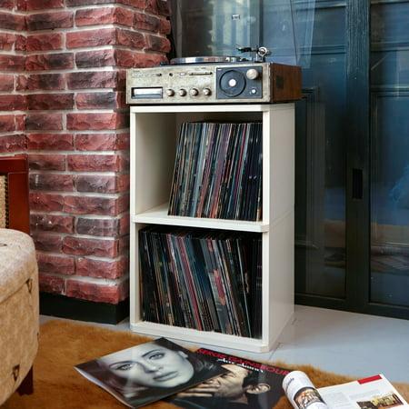 Way Basics Eco 2 Shelf Vinyl Lp Record Album Storage Cube White Lifetime Guarantee