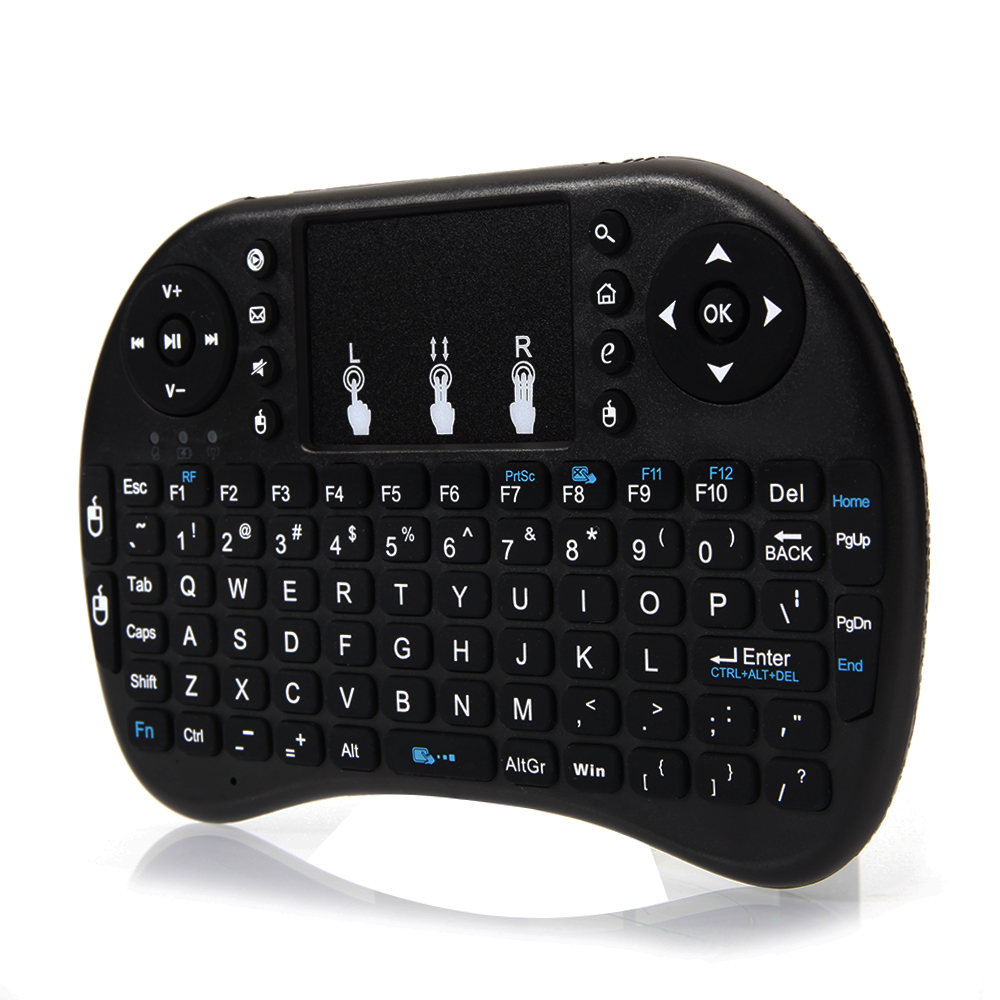 Zimtown Lot 2x i8 2.4Ghz Mini Wireless Keyboard Remote Controls Touchpad For Android TV BOX PC