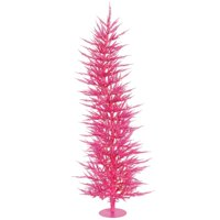 Pink Laser Dura-Lit Christmas Tree with Pink Lights, 5 ft. x 24 in.