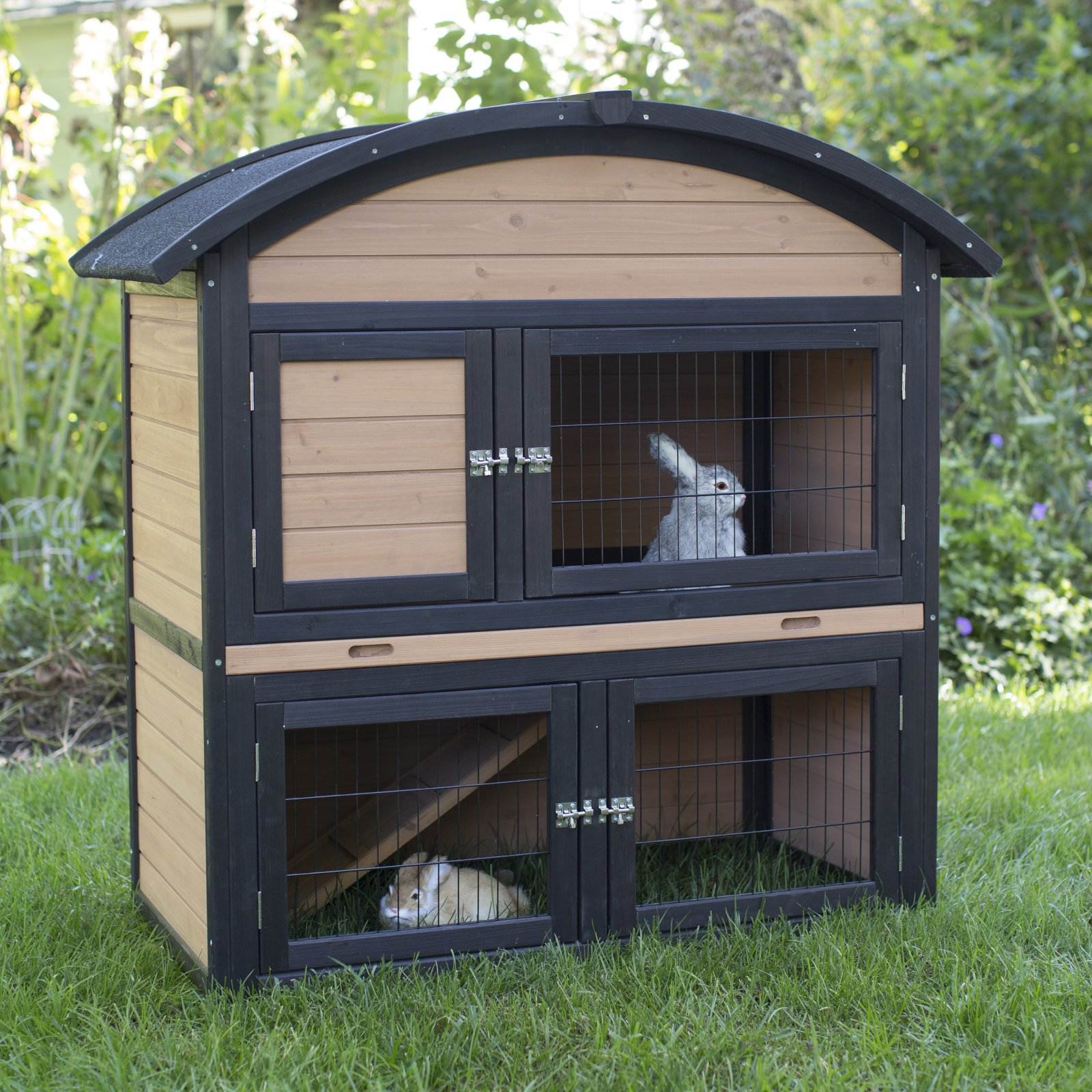 Boomer & George 2 Story Rabbit Hutch with Rounded Roof by