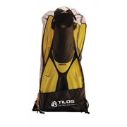 Tilos Getaway Snorkeling Fins Open Heel Fins (Black, Medium-Large / X-Large)