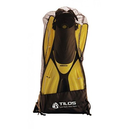 Tilos Getaway Snorkeling Fins Open Heel Fins  Yellow  Small Medium