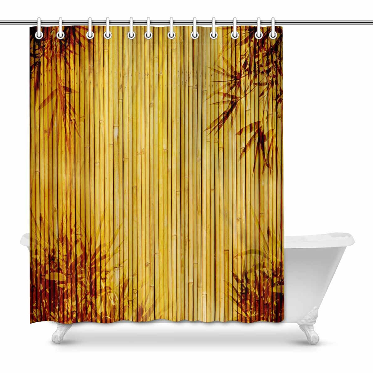 Pop Light Golden Bamboo Country House Image Great For Any Project Frame Of Bamboo Leaves Country House Image Art Decor Bathroom Shower Curtain 60x72 Inch Walmart Canada