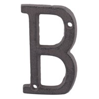 Unique Bargains Street Cast Iron B Shaped Vintage Style Door Letter Alphabet Sign Label Black