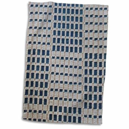 Tweed Tab (3dRose Navy Ivory Tan Tweed - Towel, 15 by 22-inch )